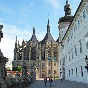 Medieval cathedral in Kutna Hora