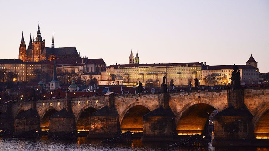 Prague Castle with the Charles Bridge