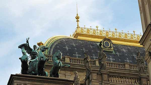 National Theater with a statue on the roof