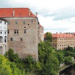 Castle upon the river in Cesky Krumlov