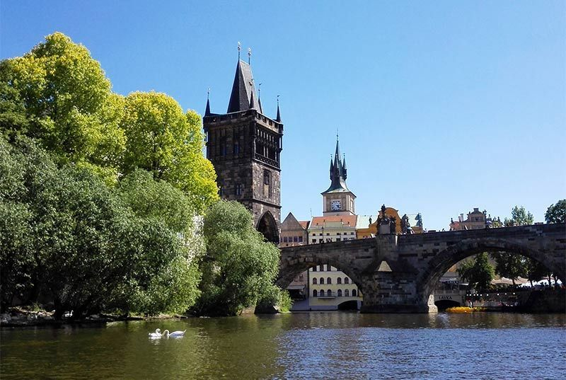 Vltava boat ride with walking tour