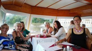 Prague lunch cruise, friends from GB