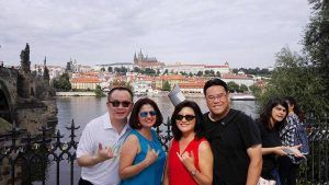 Friends from Seattle at the Charles Bridge