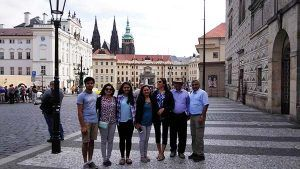 Family from India with Supreme Prague guided tour