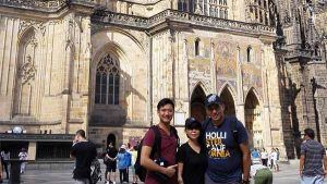 Family from Brunei at Prague Castle