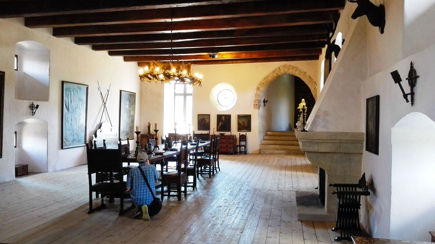 Dining hall in the Castle Kost