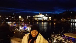 Glenda on a private photography tour in winter Prague