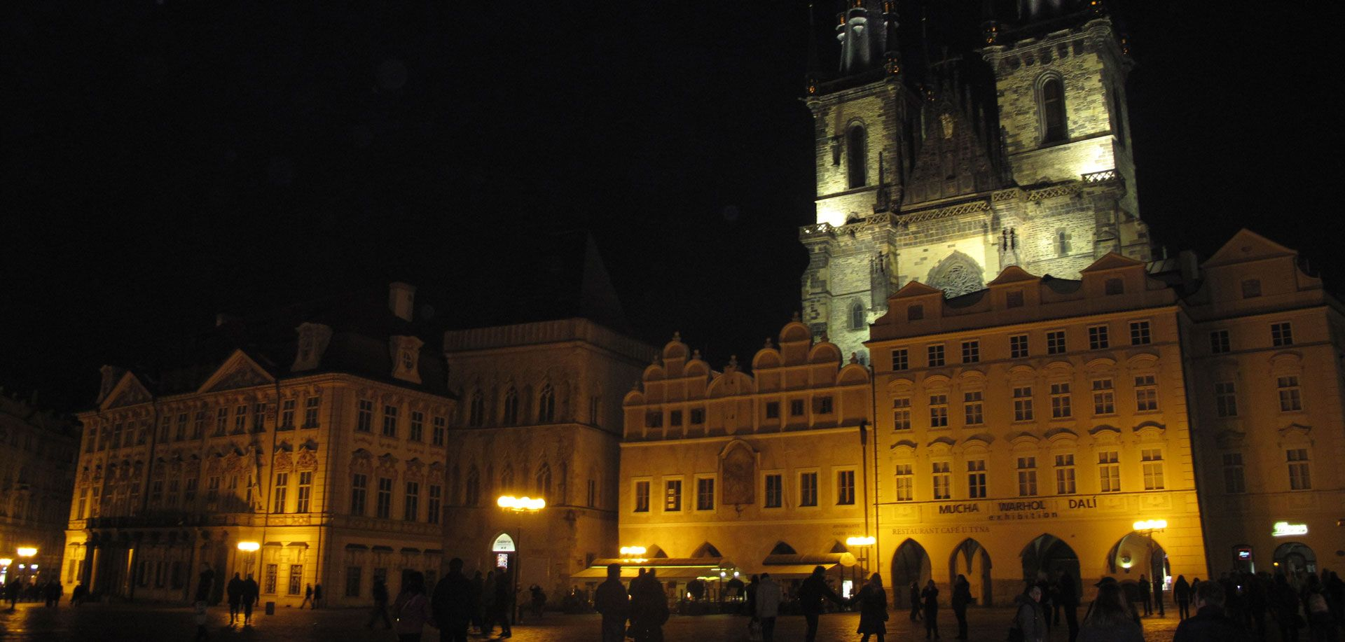 Old Town Square by night