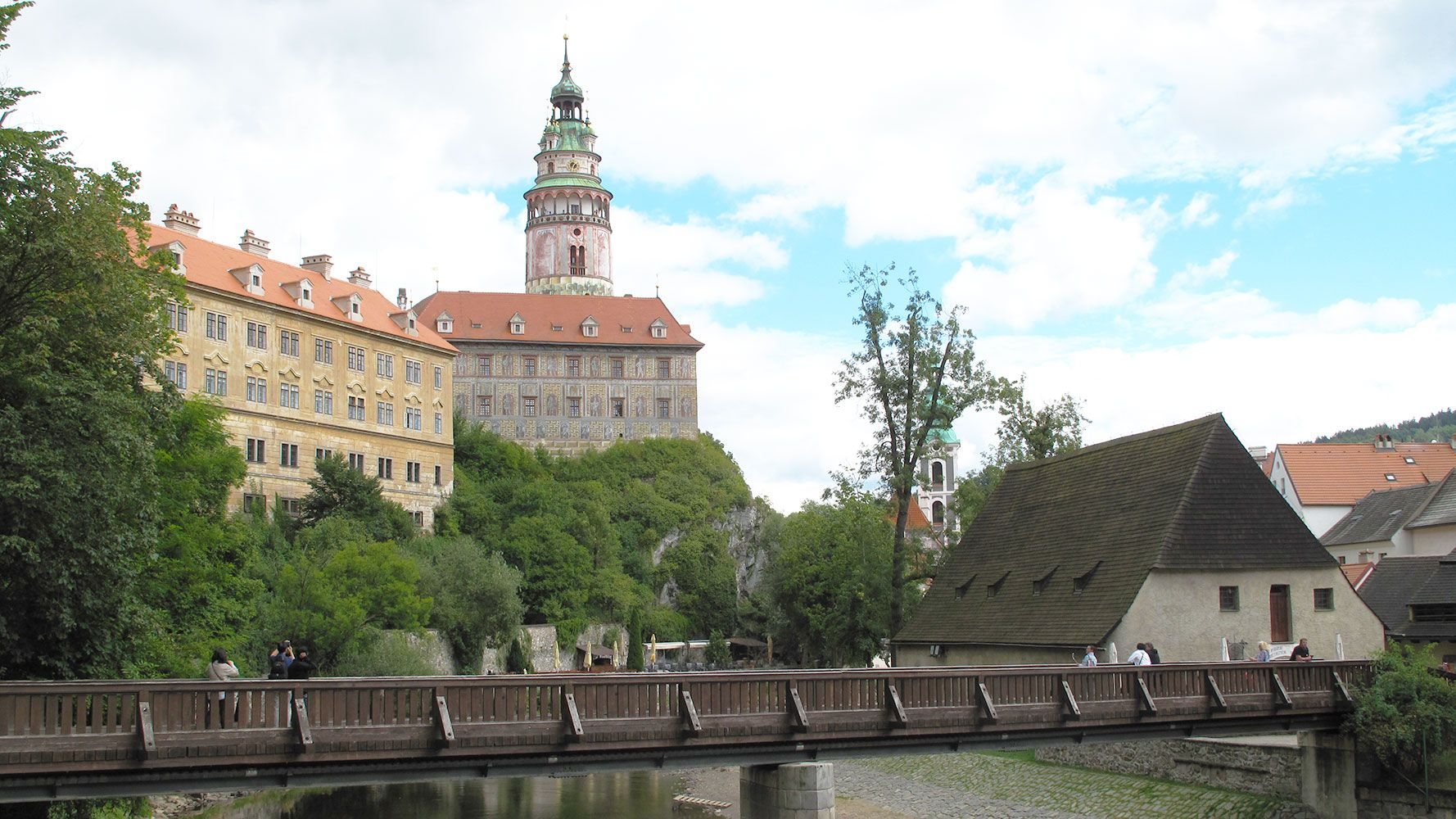 Castle from the river, Cesky Krumlov