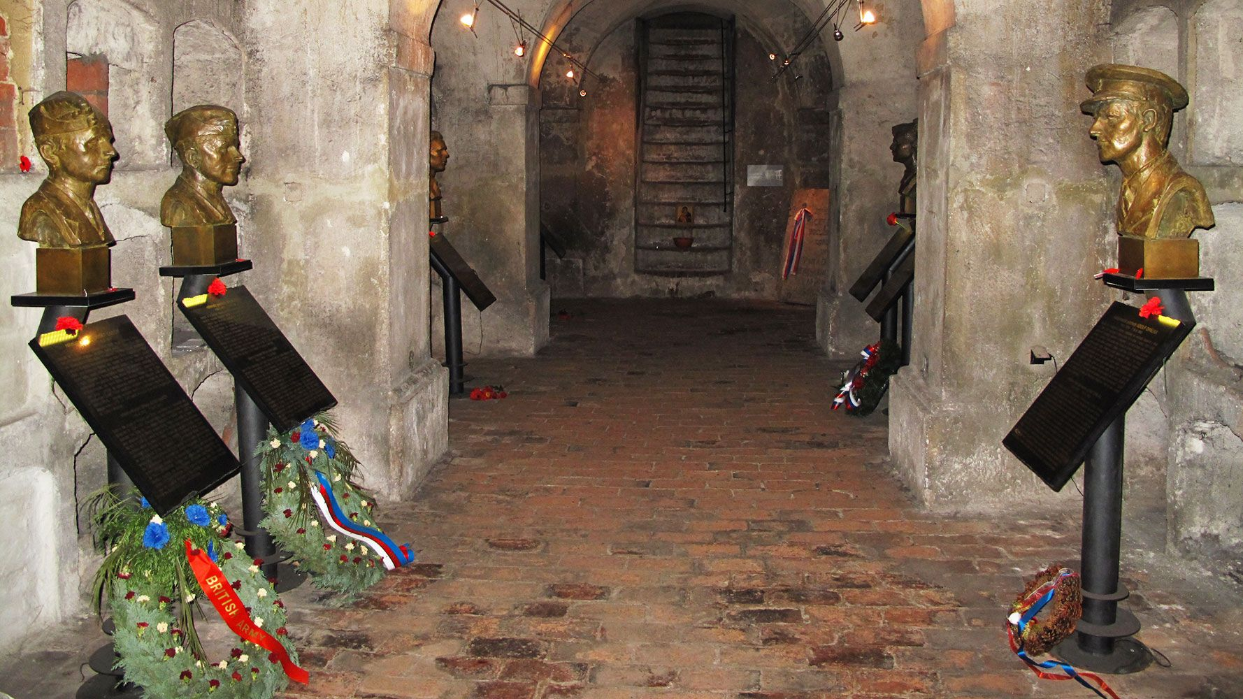 Crypt in Prague were paratroopers commited suicide after Operation Anthropoid
