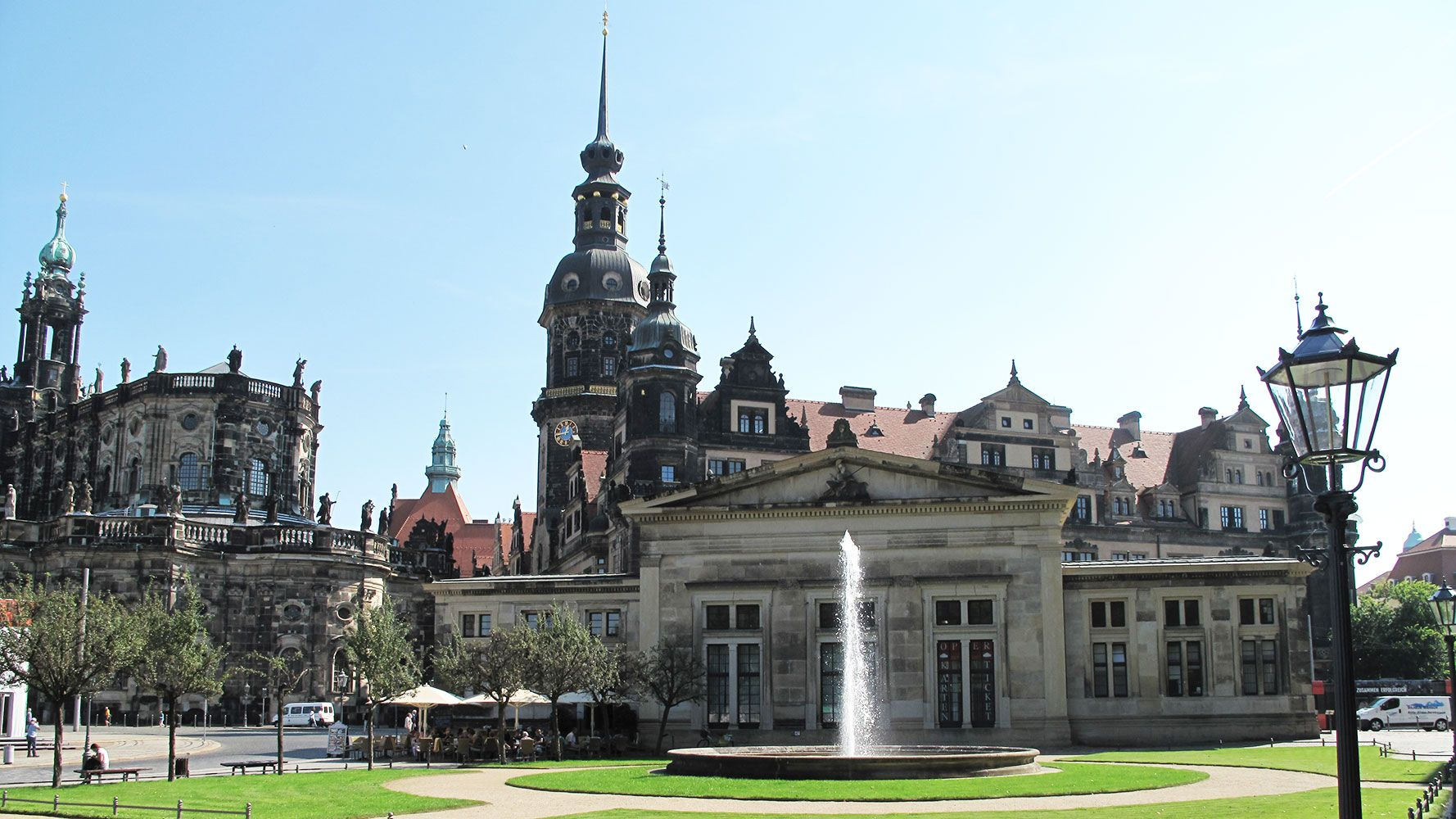Old royal palace in Dresden city center