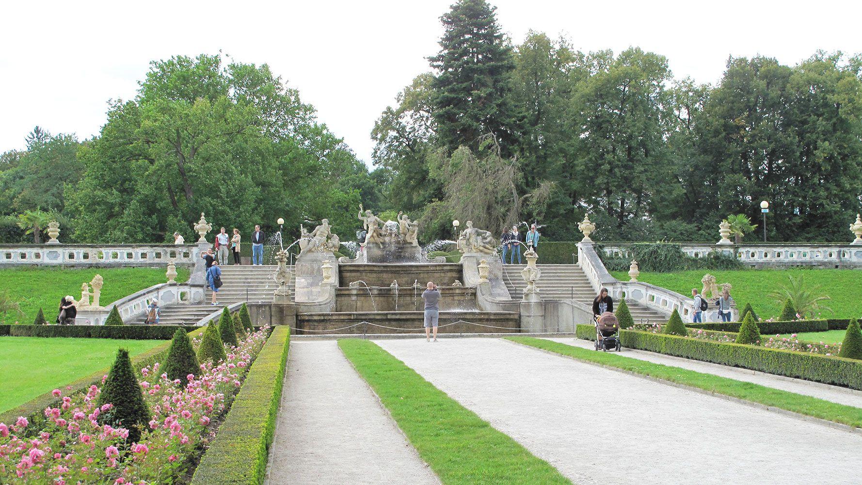 Garden of the Český Krumlov castle