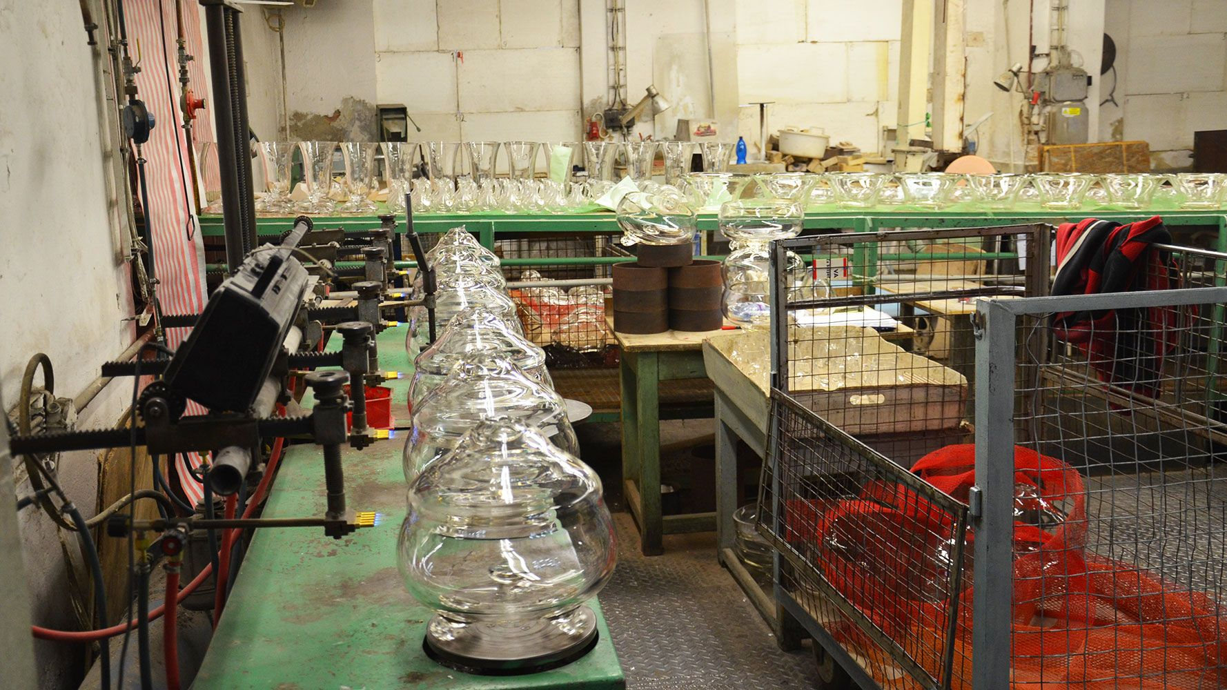 Glass production in Rückl manufacture