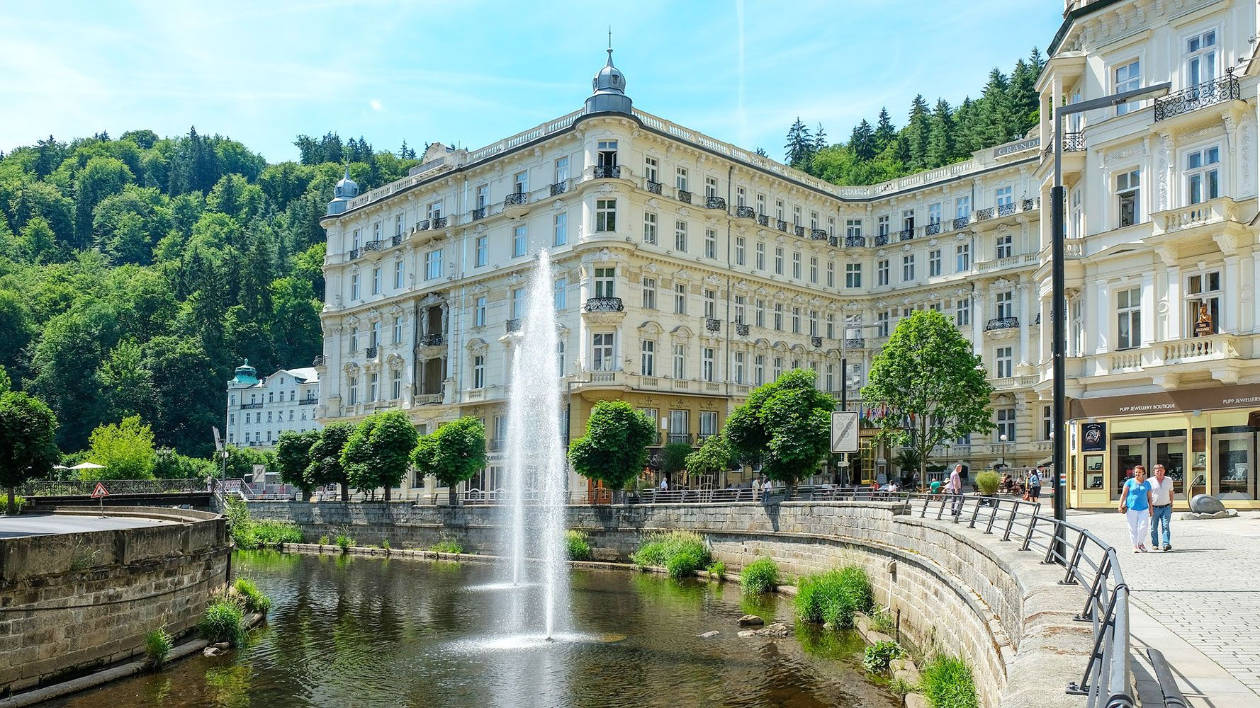the famous hotel Pupp in Karlovy Vary