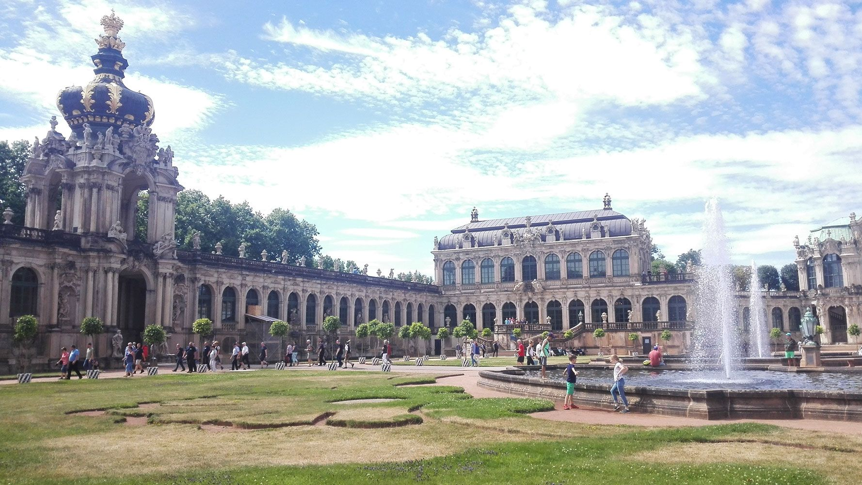 Zwinger - royal palace, today gallery