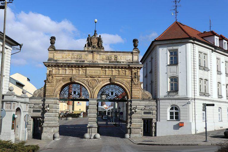 Main gate to Pilsen brewery