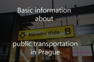 Basic information about public transportation in Prague