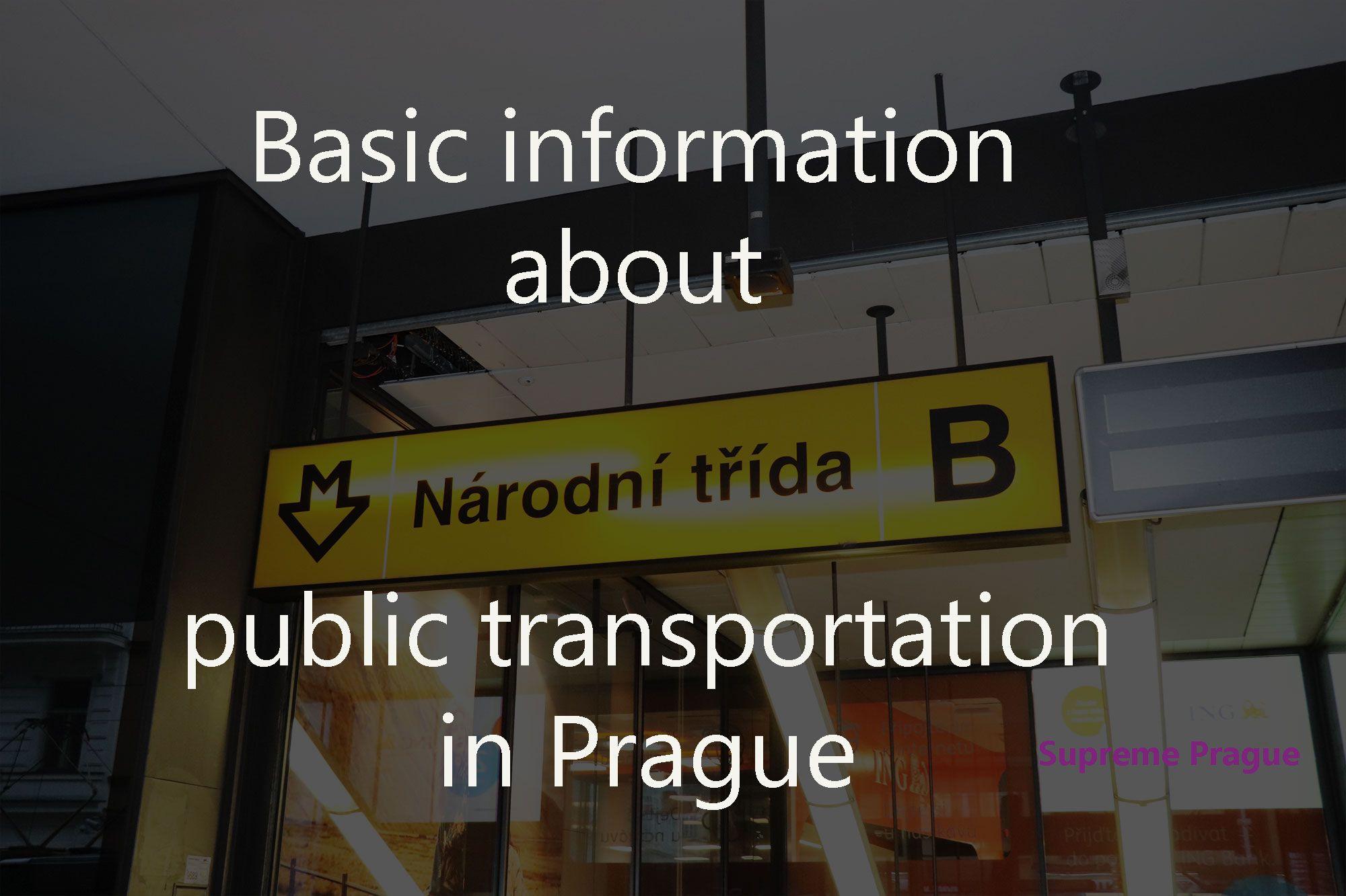 Prague Subway Mapinfo.Public Transportation In Prague Basic Info Lines Tickets Metro