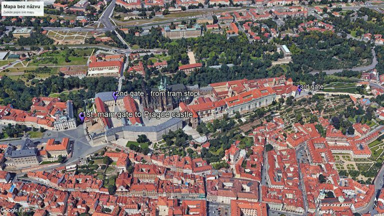 Three gates to Prague castle