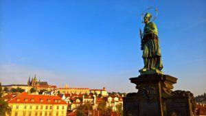 Statue of St. John of Nepomuk on Charles bridge