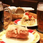 Beer tour - typical pub dishes