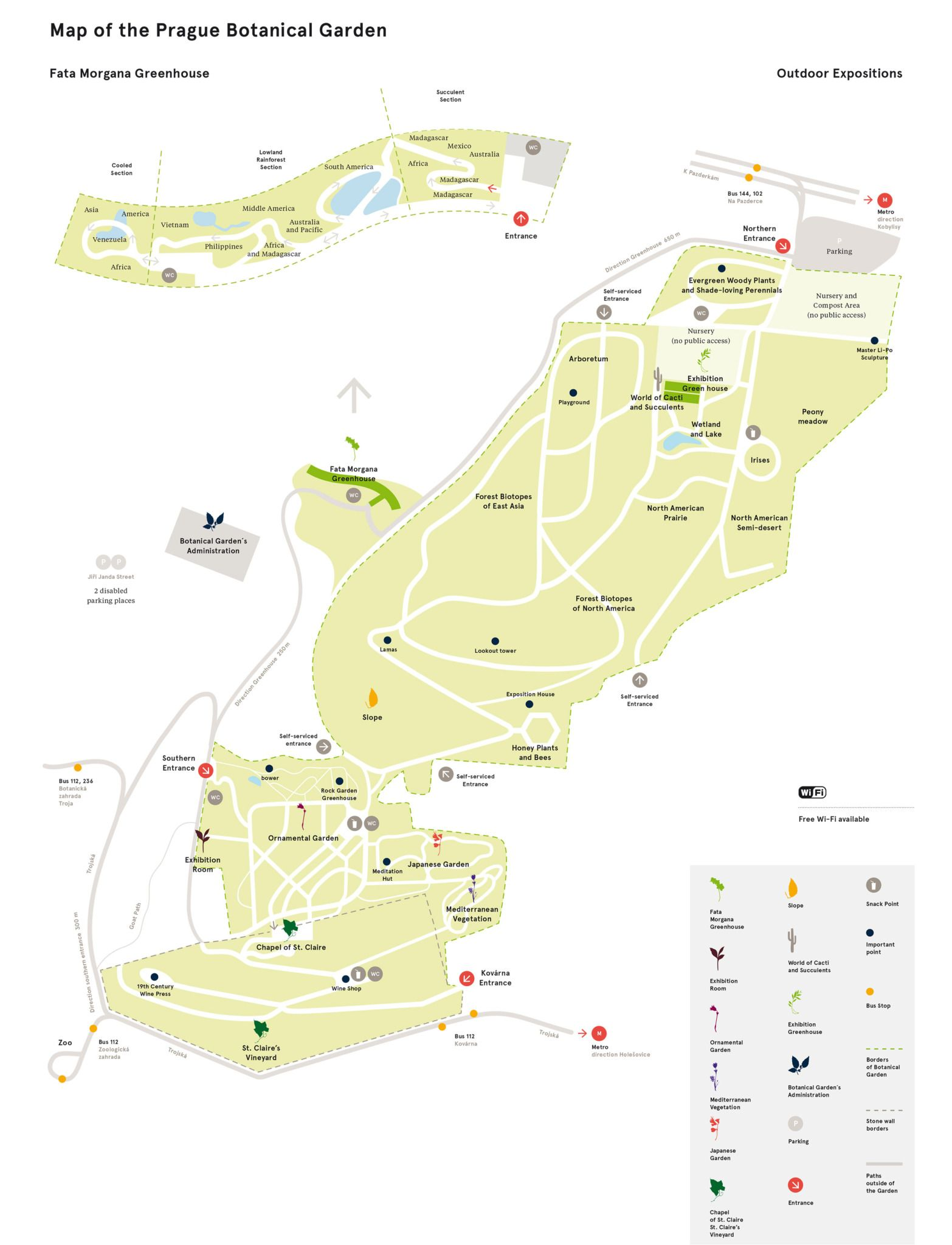 Visit Prague Botanical Garden. Ease your eyes, mind, and enjoy a great day with your family.