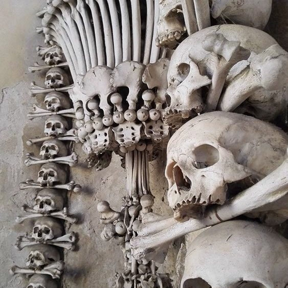 Bones at Kutna Hora Bone Chapel